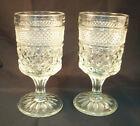 Pair Anchor Hocking Wexford Wine/Water Goblets 5-3/8