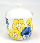 Ernestine ERN2 Sugar Bowl and Lid 3 in. Yellow Blue Orange Flowers E Italy P.3