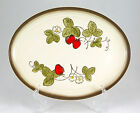 Metlox Poppytrail CALIFORNIA STRAWBERRY Oval Serving Platter 13.25 in. Brown