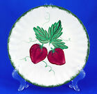 Blue Ridge Southern Potteries WILD STRAWBERRY Luncheon Plate 9.25 in. Green Trim