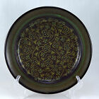 Franciscan MADEIRA (USA) Dinner Plate 10.5 in. Tan Floral Vines Brown Green Band