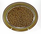 Franciscan MADEIRA (USA) Oval Serving Platter 13.5 in. Flowers Vines Dark Brown