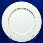 Mikasa HUNTER 112 Dinner Plate 10.625 in. White Scrolls on White Gold Trim A1112