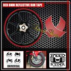 RED REFLECTIVE RIM TAPE WHEEL STRIPE TRIM CAR BIKE BICYCLE DECAL 16 17 18 19
