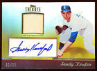 2011 TOPPS TRIBUTE SANDY KOUFAX GOLD AUTO JERSEY 20 AUTOGRAPH RARE