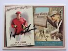 Hideki Matsui auto signed Angels Yankees 2010 Topps Allen and Ginter's auto