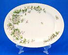 Franconia / Krautheim HAWTHORN Oval Serving Platter 13.625 in. White Flowers
