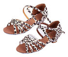 Girl women 35CM heel leopard latin salsa dance shoes ballroom shoes size 24 41