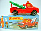 Matchbox Superfast No.61C Wreck Truck red body green booms mint/boxed