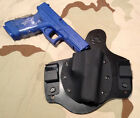 Glock 17 22 31 IWB Conceal carry holster CCW Leather Kydex hybrid tuckable