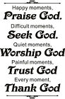 Wall Quote Stickers Vinyl Decal Removable Mural DIY Art Praise Trust Thank God