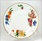 Royal Worcester PERSHORE (Gold Trim) Dinner Plate 10.125 in. Purple Blue Flowers