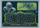 2011 Topps Triple Threads Vincent Brown Auto Jersey Rc Serial# to 70