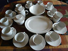Staffordshire 64 Pcs Dinner Set 6 Place Set, Saucer tea Cups Dinner Plates Bowls