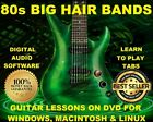80 Big Hair 80s Rock Bands Guitar & Bass TAB Lesson CD 2524 TABS 139 BTs + BONUS