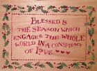 ALL NIGHT MEDIA CHRISTMAS Wood Mounted Rubber Stamp BLESSED SEASON