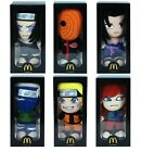 Authenticl McDonald's NARUTO Uzumaki FIGUARTS Stuffed Plush Dolls Toys Set of 6
