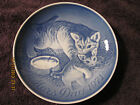 CAT AND KITTEN MOTHER'S DAY 1971 ROYAL COPENHAGEN 6 INCH COLLECTOR'S PLATE