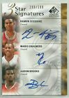 2009-10 SP Signature 3-Star SESSIONS, CHALMERS & BROOKS Auto RC #d 199 - 1 of 1