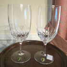 Elegant Waterford Lismore Essence Pair of Crystal Water Glasses – NIB  $160