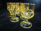 Set of 6 Colony Color Crown Topaz Yellow CLARET WINE GLASSES