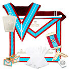 Lambskin Masonic MARK VALUE Past Master Apron WM PACK (Full Masons Regalia)