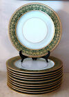 French Limoges Gilt Porcelain 8 Dinner Plates Retailed Bailey Banks & Biddle