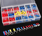 520 PCS Insulated Electrical Wire Splice Terminal Spade Crimp Ring Connector Kit