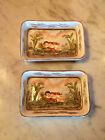 Vintage Possibly Antique Pair of Capodimonte Ring Dish / Ashtray Sleeping Cherub