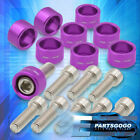 Purple Replacement Exhaust Header Manifold M8x1.25 Washer Bolts For Honda Acura