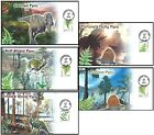 NEW American FERNS/Dinosaurs First Day of Issue FDC Set