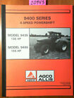 Allis-Chalmers 9400 9435 9455 Tractor Dealer Sales Training Brochure Manual 1994