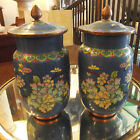 Pair of Antique Cloisonne Covered jars urns
