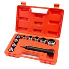 10 Pc Heavy Duty Hollow Punch Kit W Case Tool Set Gasket Leather Rubber Holes HD