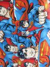 DC COMICS SUPERMAN ALLOVER BY EUGENE TEXTILES FLEECE FABRIC 60 W SOLD BTY 758