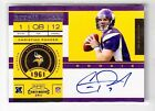2011 Contenders Christian Ponder Rookie Ticket Auto Rc