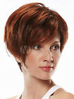 Attractive Mahogany Side Parting Heat-resistant Fiber Woman's Short Brown Wigs