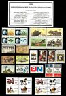 1970 COMPLETE YEAR SET OF MINT NH MNH VINTAGE US POSTAGE STAMPS