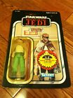 1984 Kenner Star Wars Vintage Prune Face 77 Back A Return of the Jedi