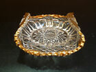 Antique EAPG glass lemon plate, dish, bowl 1890's 1900's clear and gold