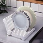 Folded Plastic Dish Plate Storage Rack Kitchen Dish Drying Rack Organizer