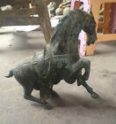 impetuous Bronze old horse pattern qing dynasty statues exquisite chinese antiqu