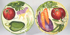 Fitz and  Floyd Le Marche Salad Plates Set of 2 Accent