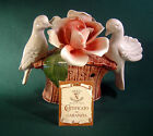 Vintage Capodimonte Made in Italy Porcelain Doves / Love Birds & Roses NO CHIPS!