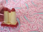 Vintage salt and pepper shakers set retro 1 piece red art eames unique rare OLD