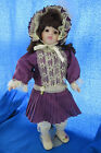 PURPLE PLEATED BABY by BRINNS DOLLS Collection LIMITED EDITION Porcelain Doll