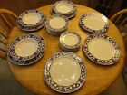 Gently Used Dynasty Perriwinkle blue and white dishes (22 pieces)