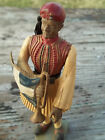 Vintage AOHNA Greek Toy Soldier Figure Statue Figurine Made in Greece flag horn