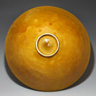 V. Rare Pair of Chinese Moulded Bowls Egg Shell Pottery Amber Yellow Glaze Ding