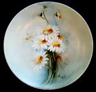 ANTIQUE Vintage c1890 ROSENTHAL Hand Painted DAISY / ARTIST-SIGNED China Plate